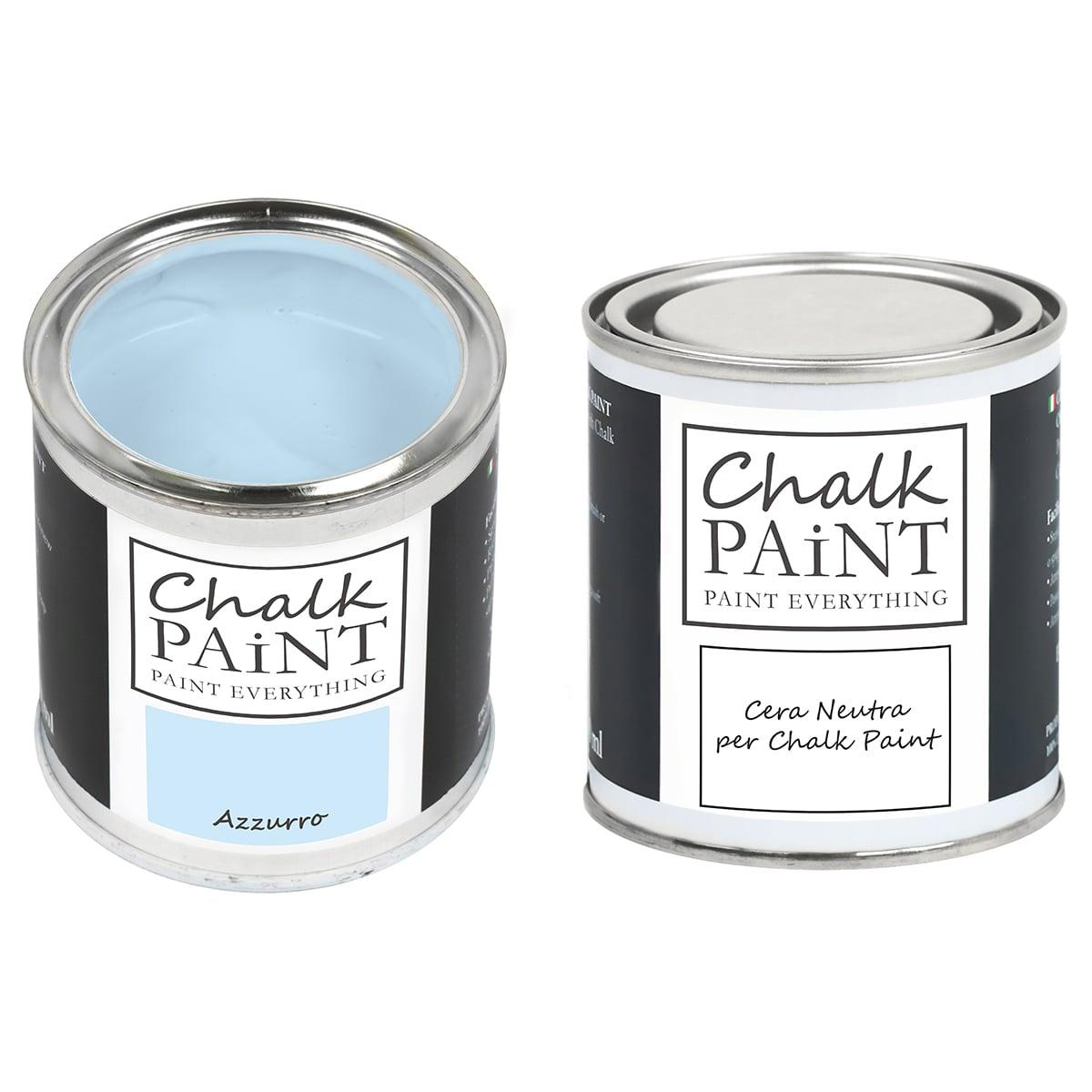 Azzurro Chalk paint e cera in offerta decora facile con paint magic