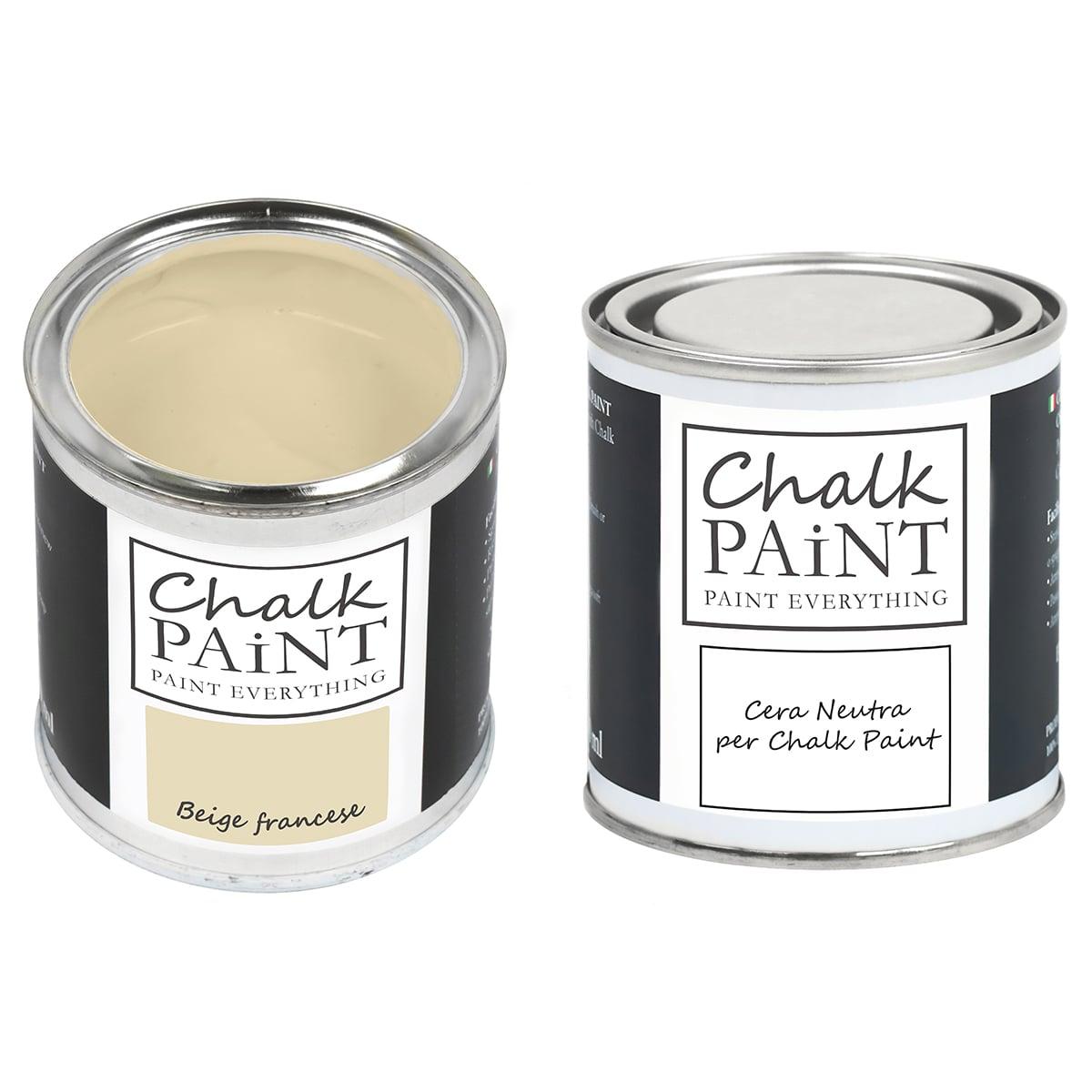 Beige francese Chalk paint e cera in offerta decora facile con paint magic
