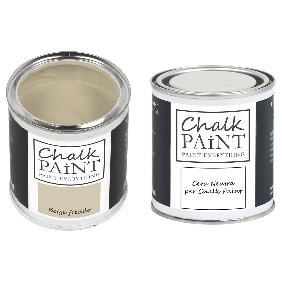 Beige freddo Chalk paint e cera in offerta decora facile con paint magic
