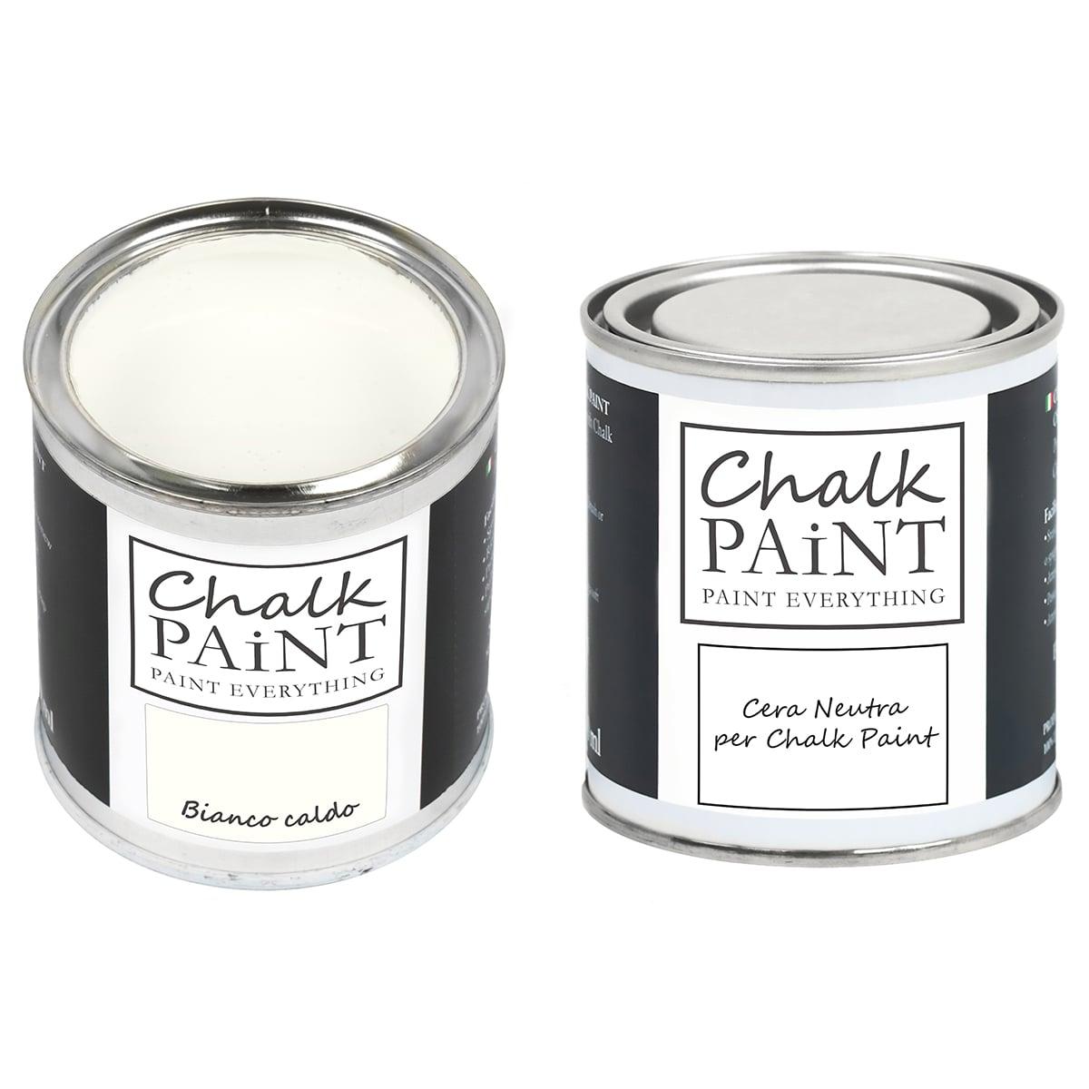 Bianco caldo Chalk paint e cera in offerta decora facile con paint magic