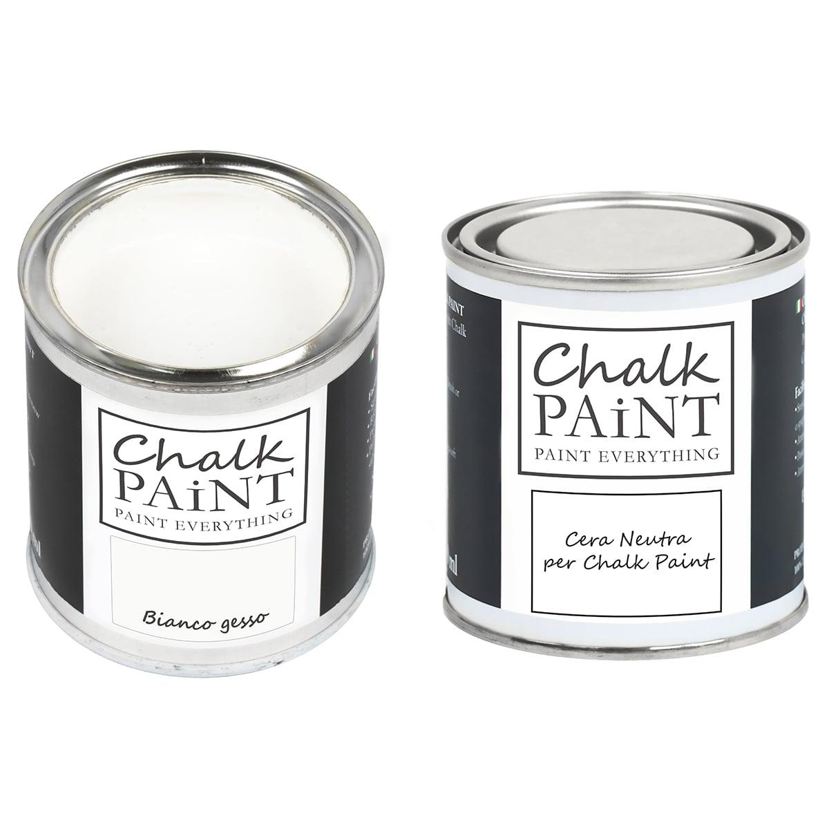 Bianco gesso Chalk paint e cera in offerta decora facile con paint magic