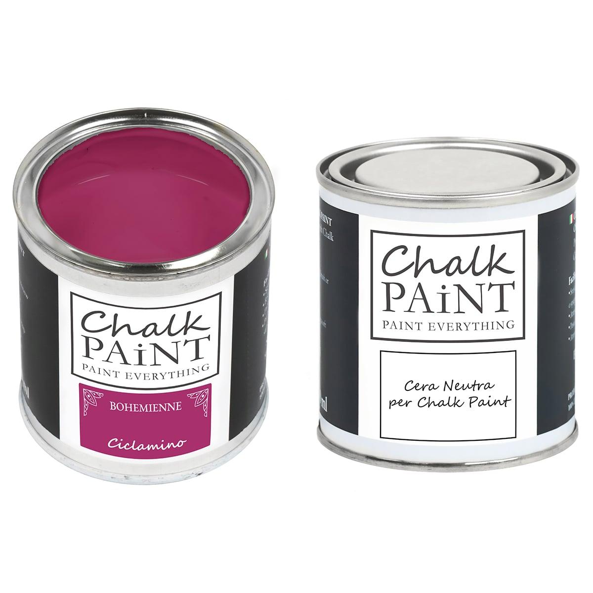 Ciclamino Chalk paint e cera in offerta decora facile con paint magic