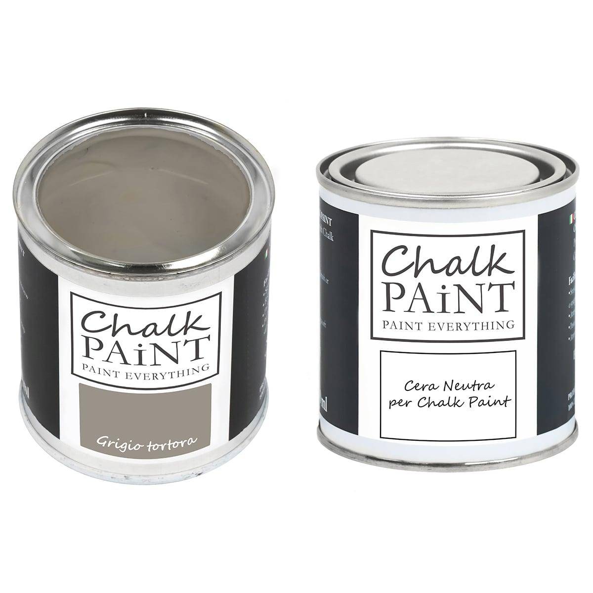 Grigio tortora Chalk paint e cera in offerta decora facile con paint magic