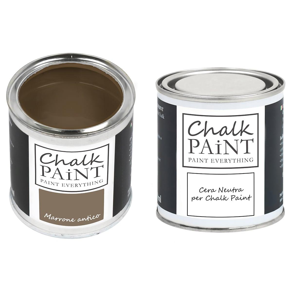 Marrone antico Chalk paint e cera in offerta decora facile con paint magic