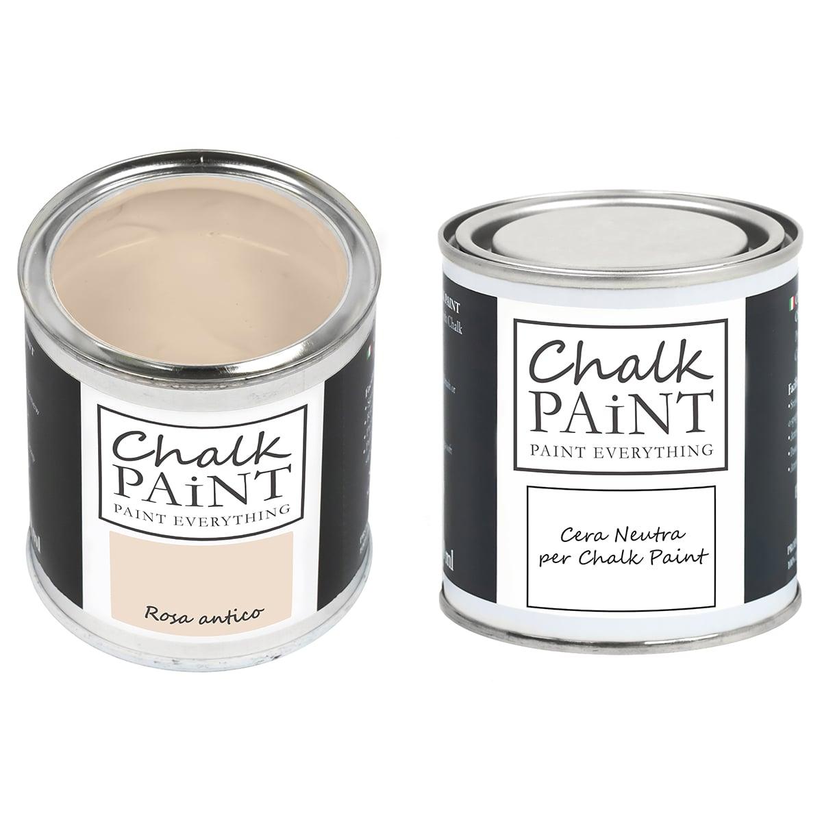 Rosa antico Chalk paint e cera in offerta decora facile con paint magic