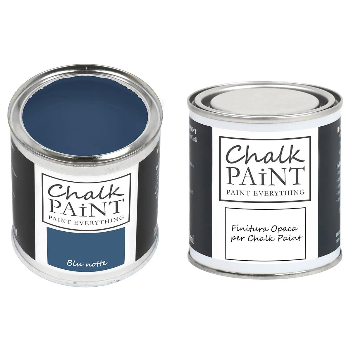 Chalk Paint Blu Notte + finitura