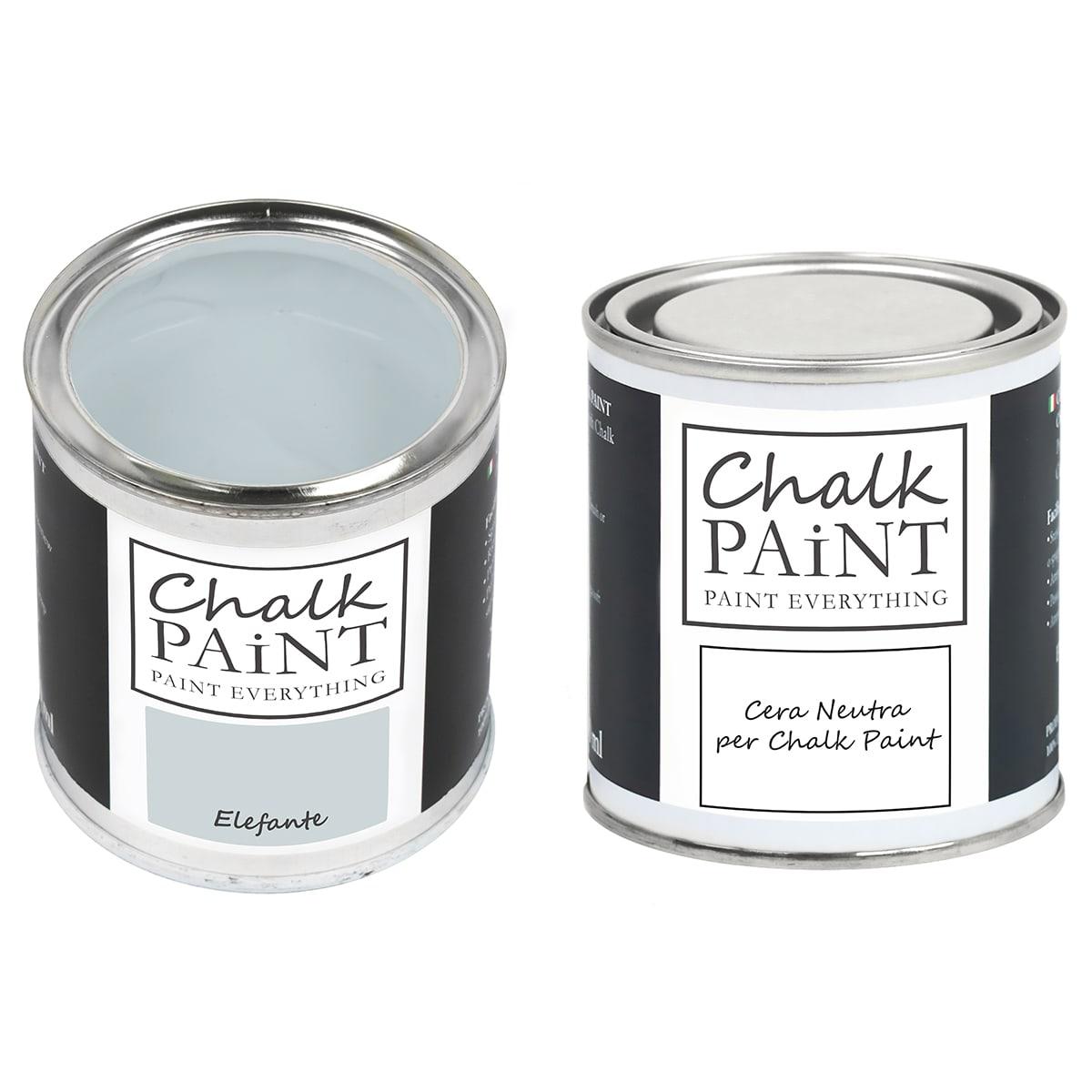 Chalk Paint Elefante + Cera Shabby