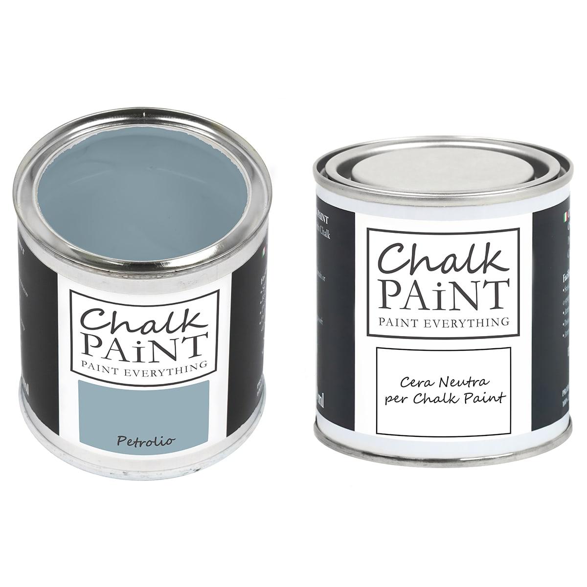 Chalk Paint Petrolio + Cera Shabby
