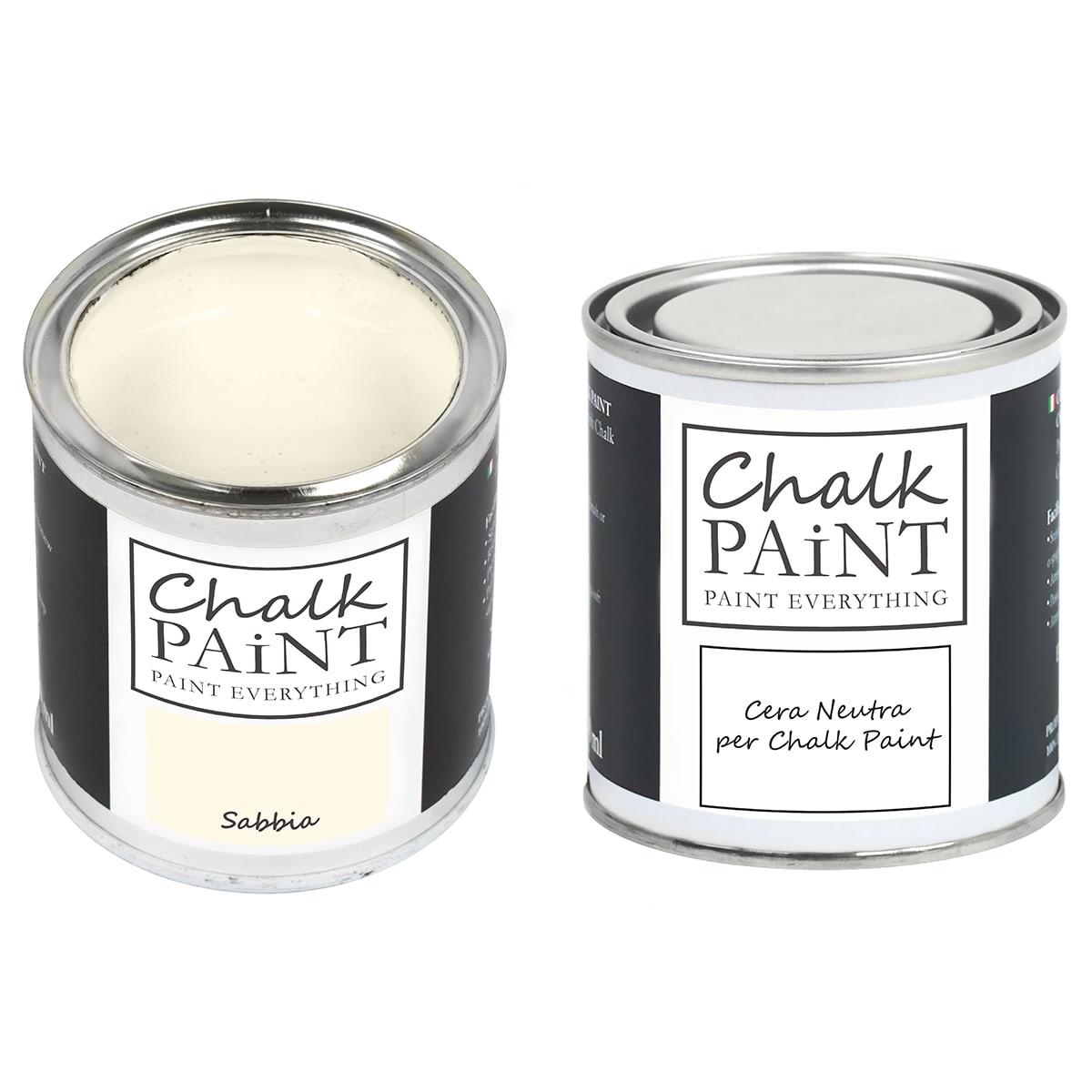 Chalk Paint Sabbia + Cera Shabby